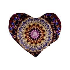 Dreamy Mandala Standard 16  Premium Flano Heart Shape Cushions by designworld65