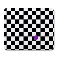 Dropout Purple Check Large Mousepads by designworld65