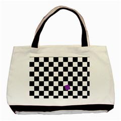 Dropout Purple Check Basic Tote Bag (two Sides) by designworld65