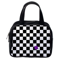 Dropout Purple Check Classic Handbags (one Side) by designworld65