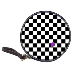 Dropout Purple Check Classic 20 Cd Wallets by designworld65