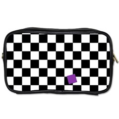Dropout Purple Check Toiletries Bags by designworld65