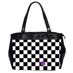 Dropout Purple Check Office Handbags (2 Sides)  by designworld65