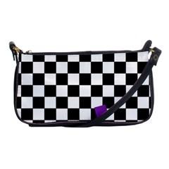 Dropout Purple Check Shoulder Clutch Bags by designworld65