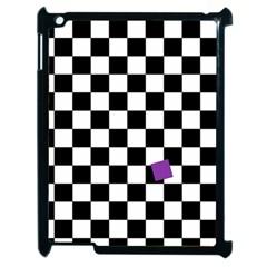 Dropout Purple Check Apple Ipad 2 Case (black) by designworld65