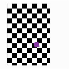 Dropout Purple Check Small Garden Flag (two Sides) by designworld65