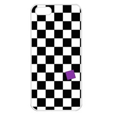 Dropout Purple Check Apple Iphone 5 Seamless Case (white) by designworld65
