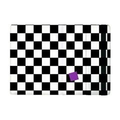Dropout Purple Check Apple Ipad Mini Flip Case by designworld65