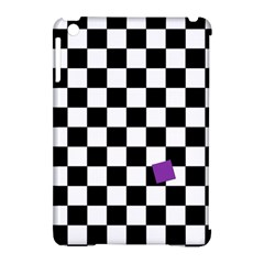 Dropout Purple Check Apple Ipad Mini Hardshell Case (compatible With Smart Cover) by designworld65