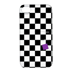 Dropout Purple Check Apple Iphone 4/4s Hardshell Case With Stand by designworld65
