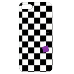 Dropout Purple Check Apple Iphone 5 Hardshell Case With Stand by designworld65