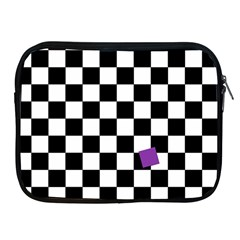 Dropout Purple Check Apple Ipad 2/3/4 Zipper Cases by designworld65