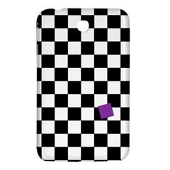 Dropout Purple Check Samsung Galaxy Tab 3 (7 ) P3200 Hardshell Case  by designworld65