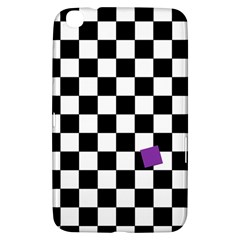 Dropout Purple Check Samsung Galaxy Tab 3 (8 ) T3100 Hardshell Case  by designworld65