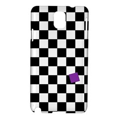 Dropout Purple Check Samsung Galaxy Note 3 N9005 Hardshell Case by designworld65