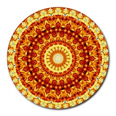 Powerful Love Mandala Round Mousepads by designworld65