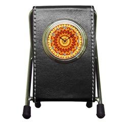 Powerful Love Mandala Pen Holder Desk Clocks by designworld65