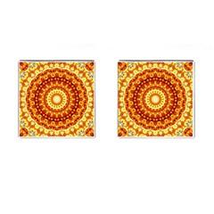 Powerful Love Mandala Cufflinks (square) by designworld65