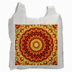 Powerful Love Mandala Recycle Bag (one Side) by designworld65