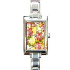 Flower Power Rectangle Italian Charm Watch by designworld65