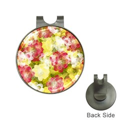 Flower Power Hat Clips With Golf Markers by designworld65