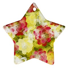 Flower Power Star Ornament (two Sides) by designworld65