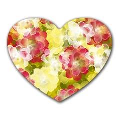 Flower Power Heart Mousepads by designworld65