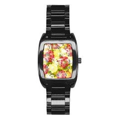 Flower Power Stainless Steel Barrel Watch by designworld65