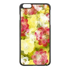 Flower Power Apple Iphone 6 Plus/6s Plus Black Enamel Case by designworld65