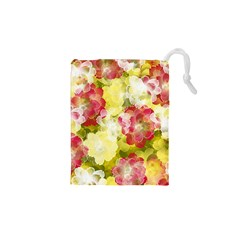 Flower Power Drawstring Pouches (xs)  by designworld65