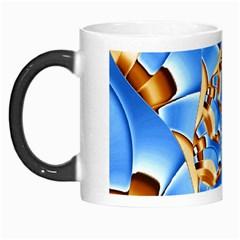 Gold Blue Bubbles Spiral Morph Mugs by designworld65