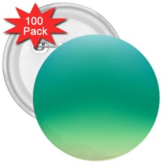 Sealife Green Gradient 3  Buttons (100 Pack)  by designworld65
