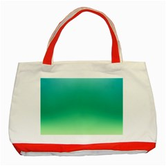 Sealife Green Gradient Classic Tote Bag (red) by designworld65