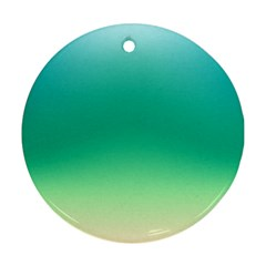 Sealife Green Gradient Round Ornament (two Sides) by designworld65