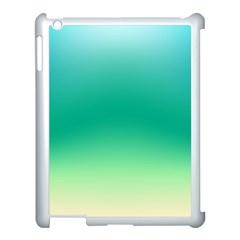 Sealife Green Gradient Apple Ipad 3/4 Case (white) by designworld65