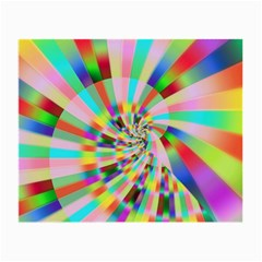 Irritation Funny Crazy Stripes Spiral Small Glasses Cloth by designworld65
