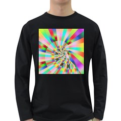 Irritation Funny Crazy Stripes Spiral Long Sleeve Dark T Shirts by designworld65