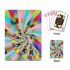Irritation Funny Crazy Stripes Spiral Playing Card by designworld65