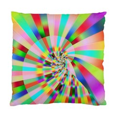 Irritation Funny Crazy Stripes Spiral Standard Cushion Case (two Sides) by designworld65