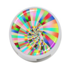 Irritation Funny Crazy Stripes Spiral 4 Port Usb Hub (two Sides)  by designworld65