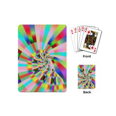 Irritation Funny Crazy Stripes Spiral Playing Cards (mini)  by designworld65