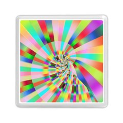 Irritation Funny Crazy Stripes Spiral Memory Card Reader (square)  by designworld65