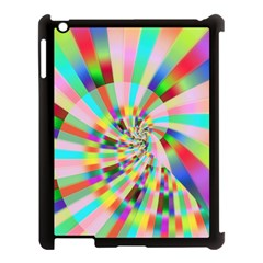 Irritation Funny Crazy Stripes Spiral Apple Ipad 3/4 Case (black) by designworld65