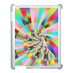 Irritation Funny Crazy Stripes Spiral Apple Ipad 3/4 Case (white) by designworld65