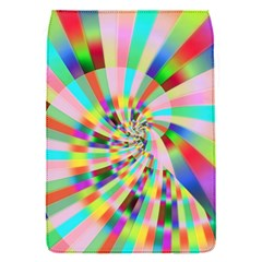 Irritation Funny Crazy Stripes Spiral Flap Covers (s)  by designworld65