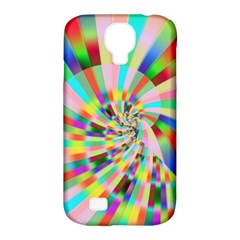 Irritation Funny Crazy Stripes Spiral Samsung Galaxy S4 Classic Hardshell Case (pc+silicone) by designworld65