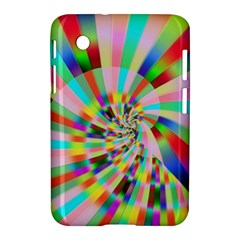 Irritation Funny Crazy Stripes Spiral Samsung Galaxy Tab 2 (7 ) P3100 Hardshell Case  by designworld65