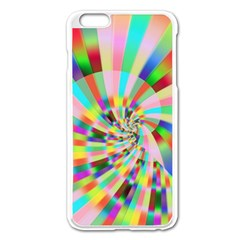 Irritation Funny Crazy Stripes Spiral Apple Iphone 6 Plus/6s Plus Enamel White Case by designworld65