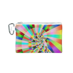 Irritation Funny Crazy Stripes Spiral Canvas Cosmetic Bag (s) by designworld65