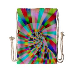 Irritation Funny Crazy Stripes Spiral Drawstring Bag (small) by designworld65
